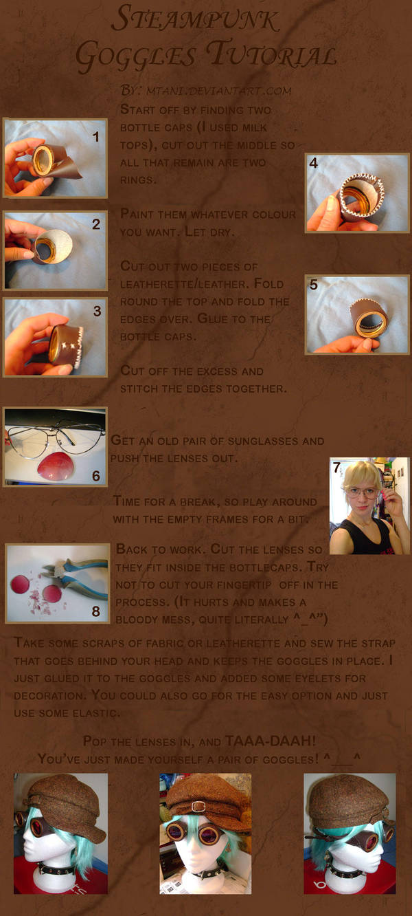Steampunk Goggles Tutorial by mtani