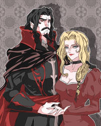 Dracula and Lisa by TomatoStyles