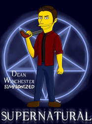 Dean Winchester Simpsonized by pekeyn