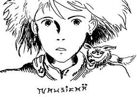 Nausicaa and Teto by rapttie