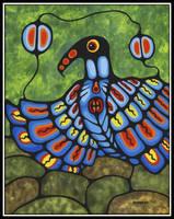 Blue Resting Thunderbird by BOUVETTE-Art