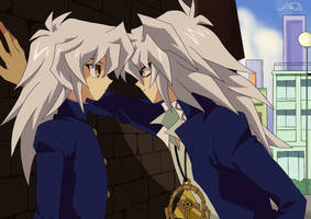 Ryou and Bakura by FinDaSlaya