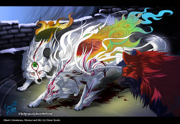 Okami - refusing to fall by Grypwolf
