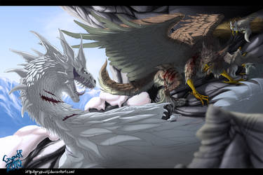 Glacial combat by Grypwolf