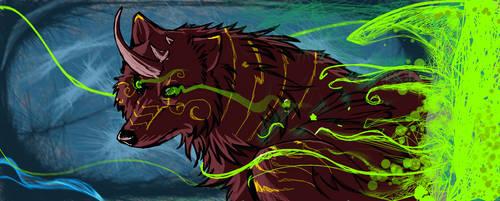 Glowing eyes -DA Muro sketch by Grypwolf