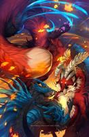 Autumn's moonlight by Grypwolf