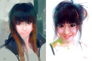 2 Portraits by zhuzhu