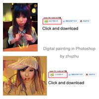 Digital Painting in Photoshop by zhuzhu
