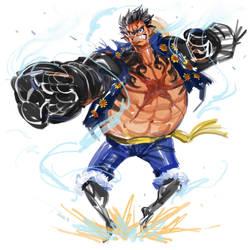 Luffy in level 4 by zhuzhu