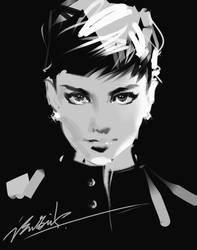 Audrey Hepburn by zhuzhu