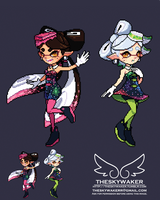 Pixel Squid Sisters (5 8 2018) by theskywaker