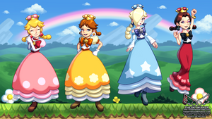 New Super Mario Girls U Deluxe (9 18 2018) by theskywaker