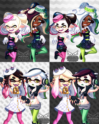 Off The Hook + Squid Sisters Outfit Swap 12 4 2018 by theskywaker