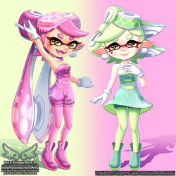 Pastel Squid Sisters (2 20 2019) by theskywaker