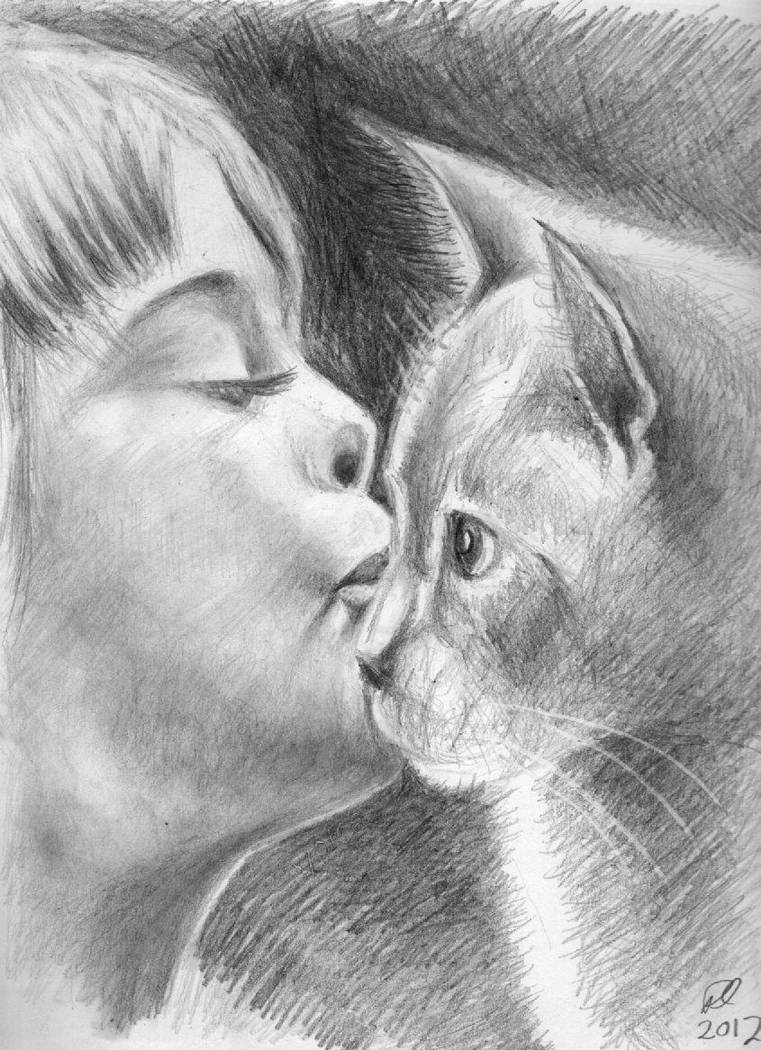 Child and Kitty by philippeL