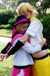 Natsuki..hug syo by Cleachan
