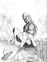 Creature from the Black Lagoon by psdguy