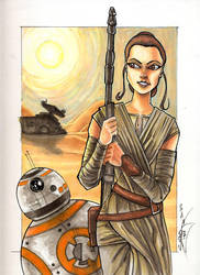 Rey and BB8 by psdguy