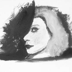 WIP Jessica Stam portrait by monkanian