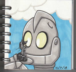 The Iron Giant and Eve by RaynaOfTheDead