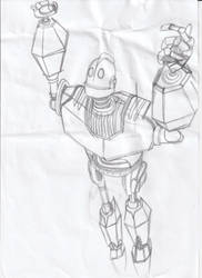 Iron Giant Sketch #2 by RaynaOfTheDead