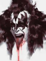 Gene Simmons of KISS by danielmchavez