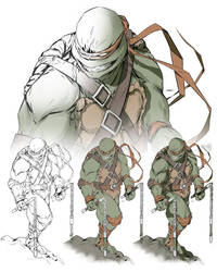 TMNT Michelangelo Step By Step Preview by danielmchavez