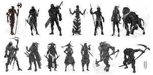 silhouette studies by Parkhurst