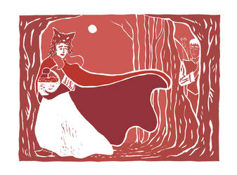 Red, the Hunter and the Full Moon by inasmuch