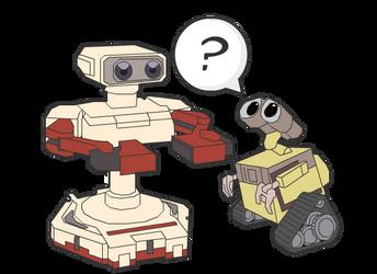 Wall-E meets R.O.B. by BrownKirby