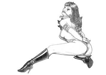 Vampirella in trouble by Falcao19