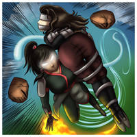 Commiss - Red Lotus Korra by Humite-Ubie