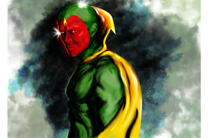 Paul Bettany - The Vision by rjakobson