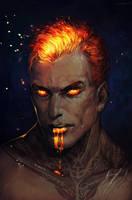 Fire demon by LoranDeSore