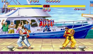Ryu VS Sean by Street-Spriter