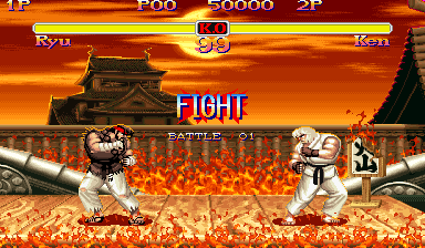 Ryu VS Ken by Street-Spriter