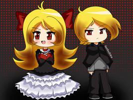 Blondy Evil Vampire Twins by RedAceStarz