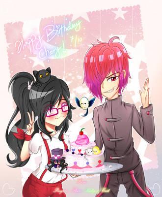 Happy Cream Cake Birthday, Cherry-Chan! by RedAceStarz