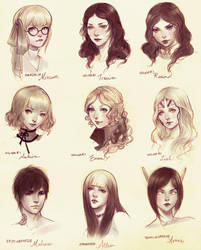 Headshots - Group Two by yasa-hime