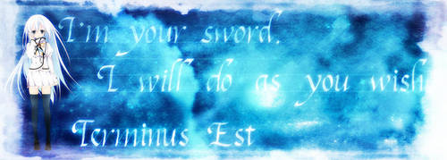 I'm your sword.I will do as you wish. by frantle