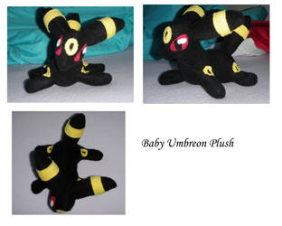 Baby Umbreon plush by Julika-Nagara