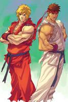 NgBoy Ken and Ryu by z3dd