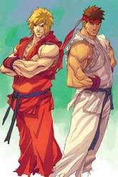 NgBoy Ken and Ryu by z3dd