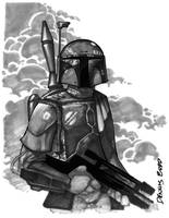 convention sketch 03 BobaFett by DennisBudd