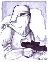 convention sketch 09 Snowtrooper by DennisBudd