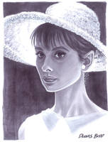 convention sketch 23 Audrey Hepburn by DennisBudd