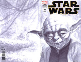 sketch cover 01 Yoda by DennisBudd