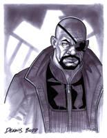 convention sketch 31 Nick Fury by DennisBudd
