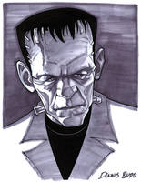 convention sketch 34 Frankenstein's Monster by DennisBudd