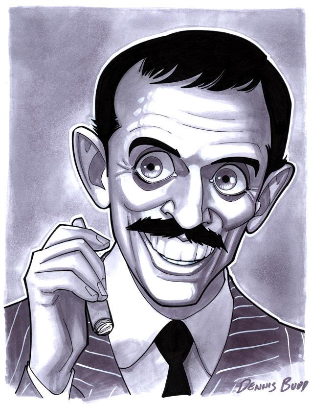 convention sketch 37 Gomez Addams by DennisBudd
